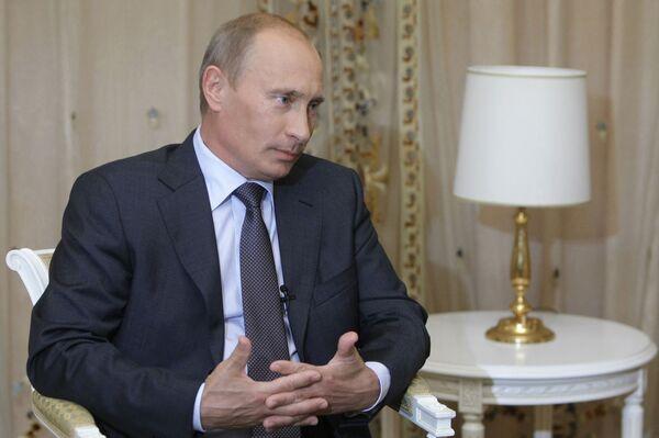 Интервью премьер-министра РФ В.Путина абхазским СМИ в Сочи