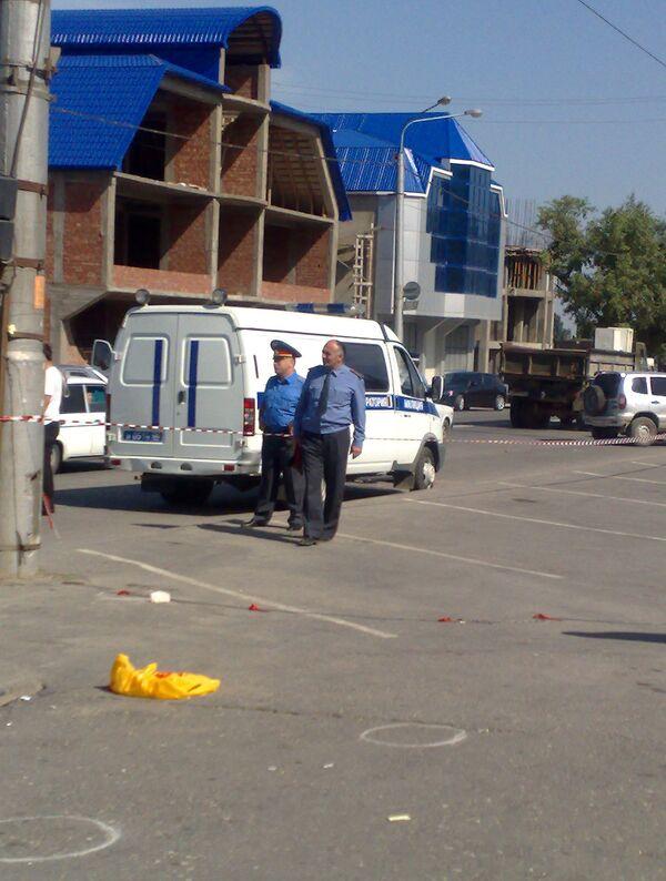 Бомба взорвалась в Махачкале на пути милицейской машины