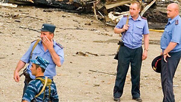 Оперативная группа на месте взрыва в Грозном. Архив