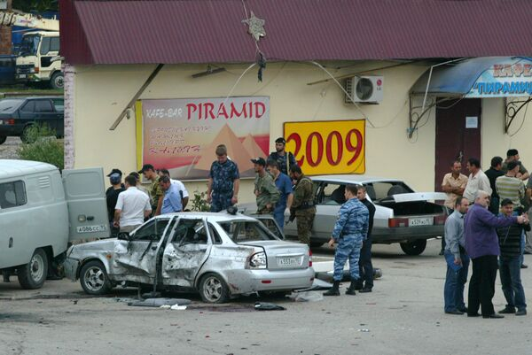Взрыв на улице Маяковской в Грозном