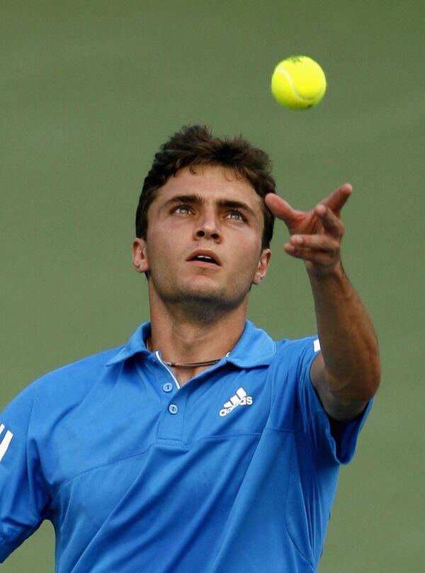 Французский теннисист Жиль Симон