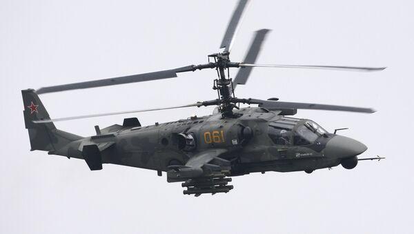 Многоцелевой всепогодный боевой вертолет Ка-52 Аллигатор. Архивное фото