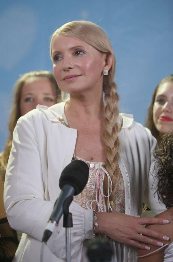 Юлия Тимошенко на ХI Всеукраинском благотворительном детском фестивале Черноморские игры