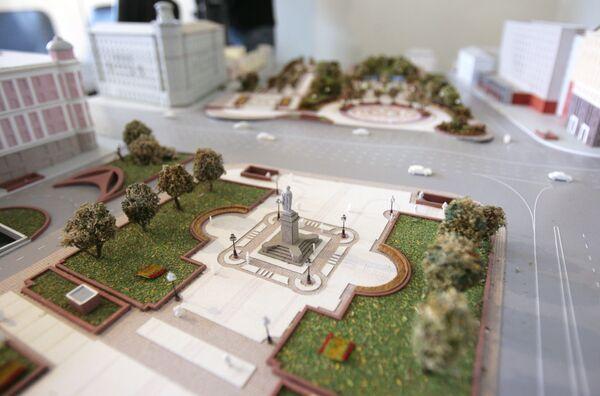 Макет реконструкции Пушкинской Площади. Архив