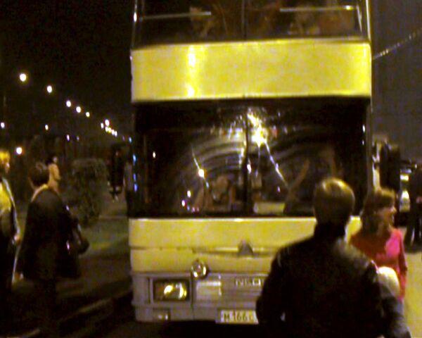 """Автобус с """"черкизовцами"""" протаранил толпу недовольных москвичей"""