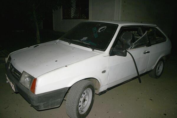 Взрыв автомобиля Лада-Приора, начиненного взрывчаткой, у поста милиции в Назрани