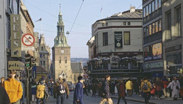 Город Осло, столица Норвегии. Архив