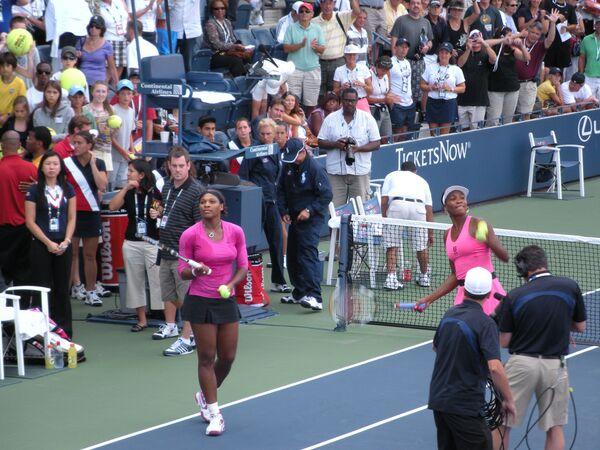 Сестры Уильямс - чемпионки Открытого чемпионата США по теннису в парах