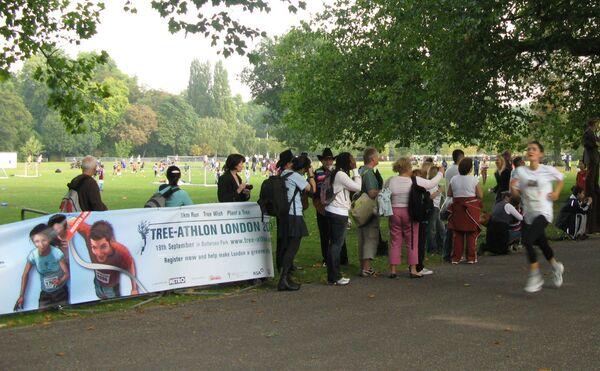Забег в защиту деревьев в Лондоне