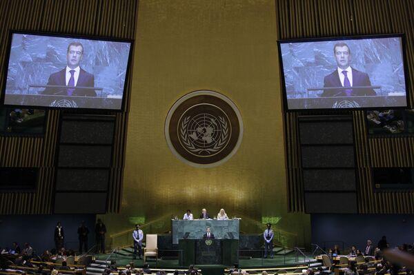 Президент РФ Д.Медведев выступил на 64-й сессии Генассамблеи ООН