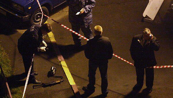 На месте убийства главы администрации Хасавюртовского района Дагестана Алимсултана Алхаматова