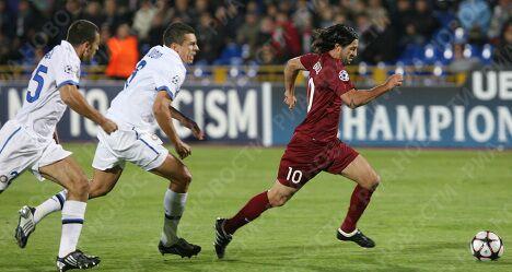 Игровой момент матча Рубин (Россия) - Интер (Италия)