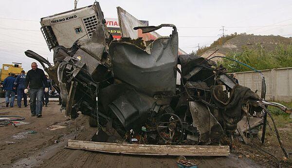 Столкновение автобуса и грузовика в Самарской области