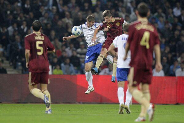 Футбол. Отборочный турнир чемпионата мира-2010: Азербайджан - Россия