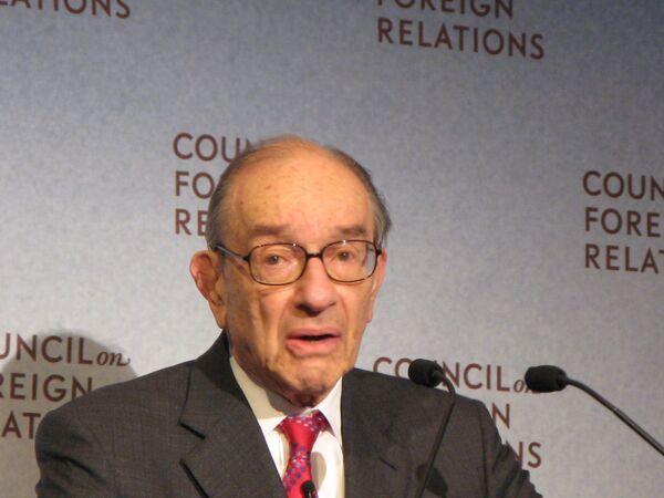 Алан Гринспен во время выступления в Совете по международным отношениям