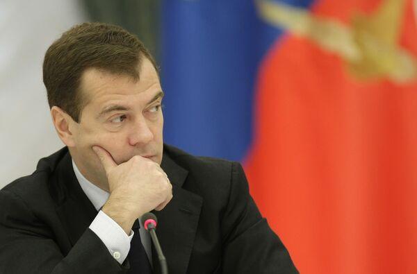 Президент РФ Дмитрий Медведев встретился с представителями предпринимательского сообщества