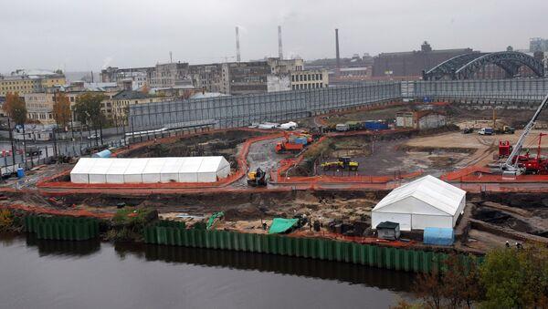 Строительство делового центра Охта-центр в Санкт-Петербурге. Архив