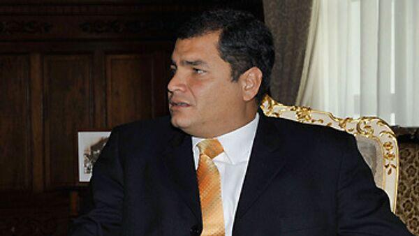 Президент Эквадора Рафаэль Корреа Дельгадо. Архив