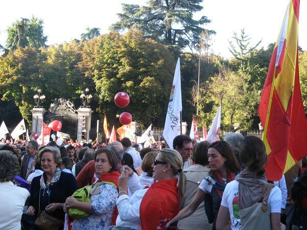 Во время манифестации протеста против абортов в Мадриде