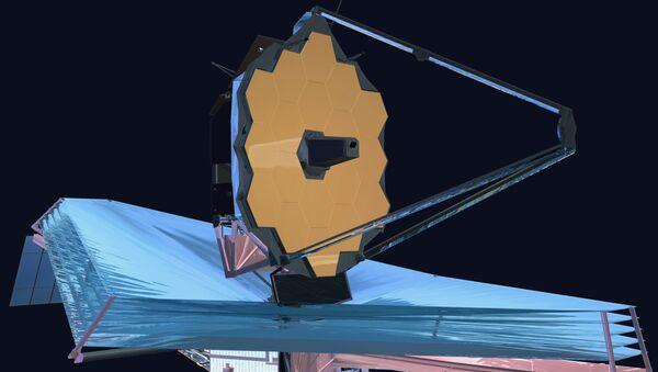 Телескоп Джеймс Уэбб в свернутом виде