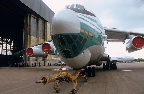 Первый самолет Ил-76 компании Алроса