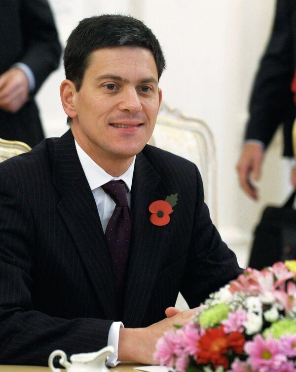 Министр иностранных дел Великобритании Дэвид Милибэнд