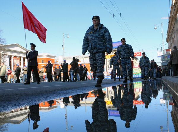 Первомайское шествие в Москве. Архив
