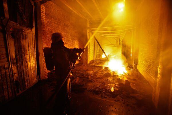 Пожар на АО Ленформаш в Санкт-Петербурге