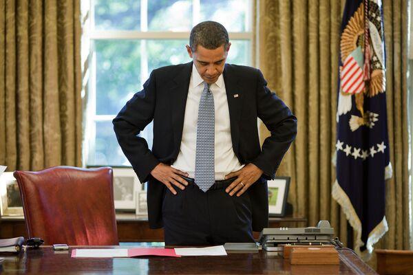 Барак Обама в своем кабинете в Белом доме