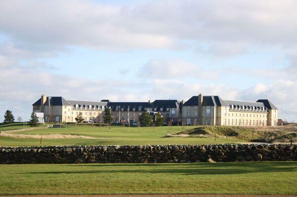 Гольф-курорт Fairmont в шотландском городе Сент-Эндрюс, где проходит встреча финансовой двадцатки