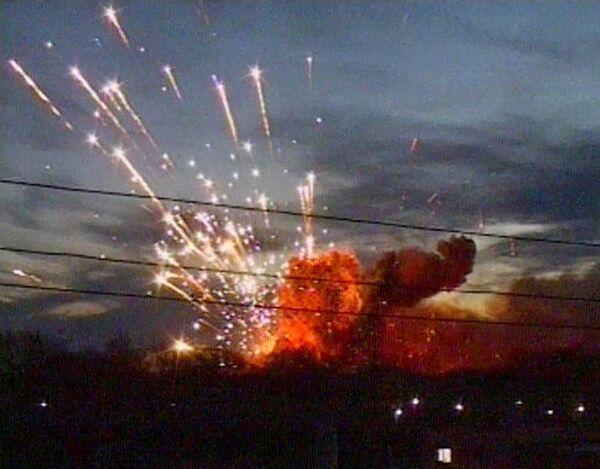 Пожар на складе артснарядов в Ульяновске
