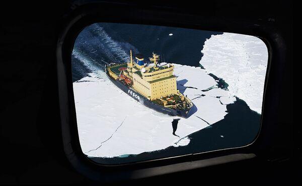 Ледокол Капитан Хлебников в Антарктике
