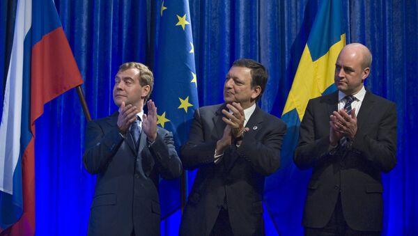 Д.Медведев на саммите РФ-ЕС в Стокгольме