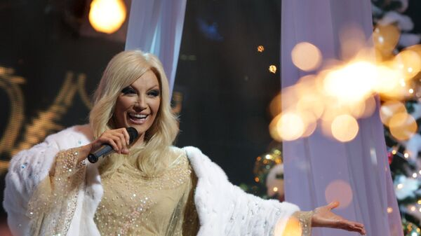 Т.Повалий на съемках новогоднего шоу Добрый вечер, Москва!