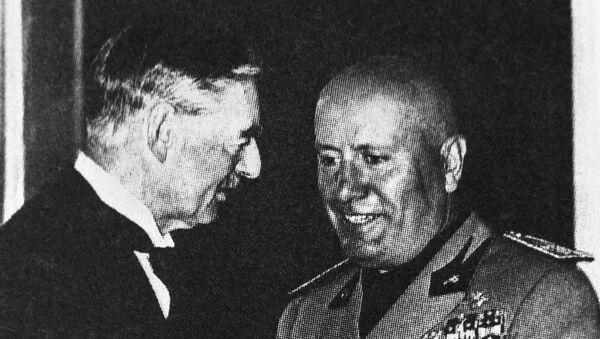Итальянский диктатор Бенито Муссолини. Архивное фото