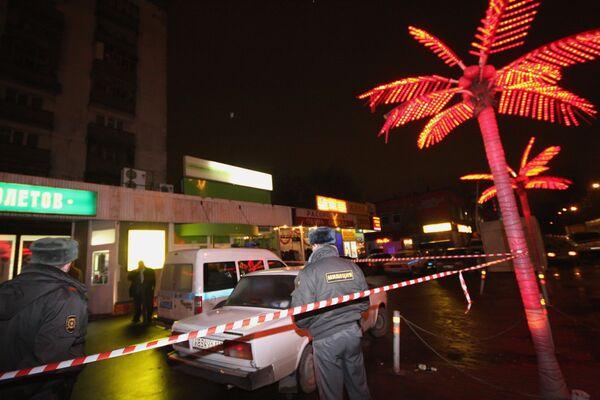 На месте убийства уроженца Абхазии в Москве