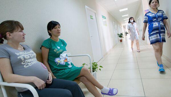 Беременные женщины в одном из роддомов. Архив