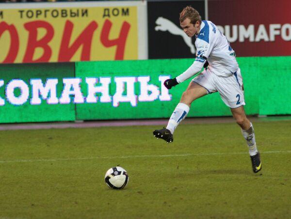 Защитник Зенита Александр Анюков