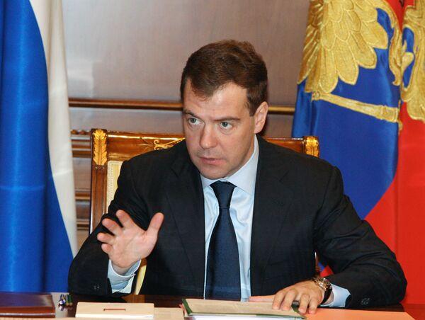 Медведев не исключает своего участия в выборах президента в 2012 году