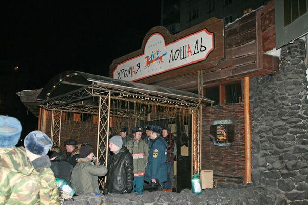 На месте взрыва у ночного клуба Хромая лошадь