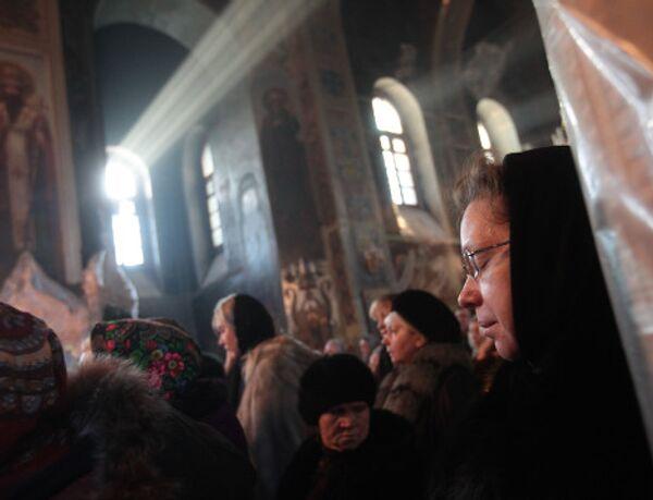 Поминальная служба по погибшим при пожаре в ночном клубе в Перми