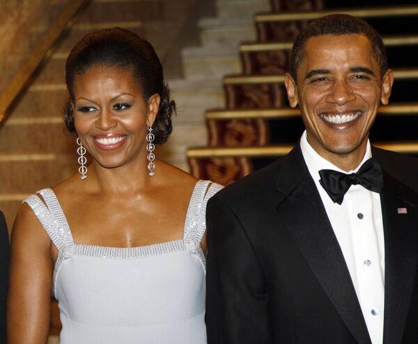 Президент США Барак Обама с супругой Мишель