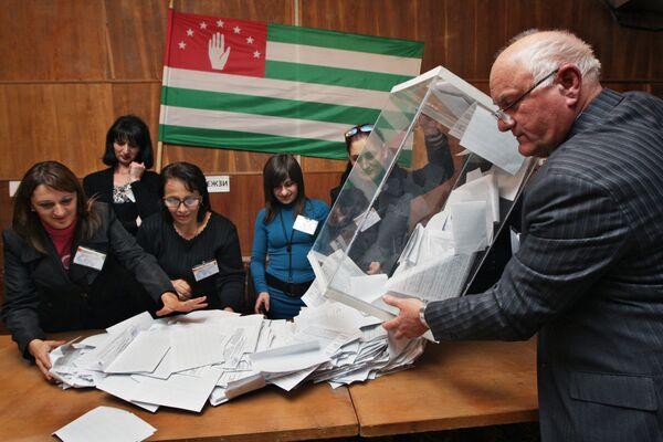 ЦИК Абхазии опровергает информацию оппозиции о потерянных 5% голосов
