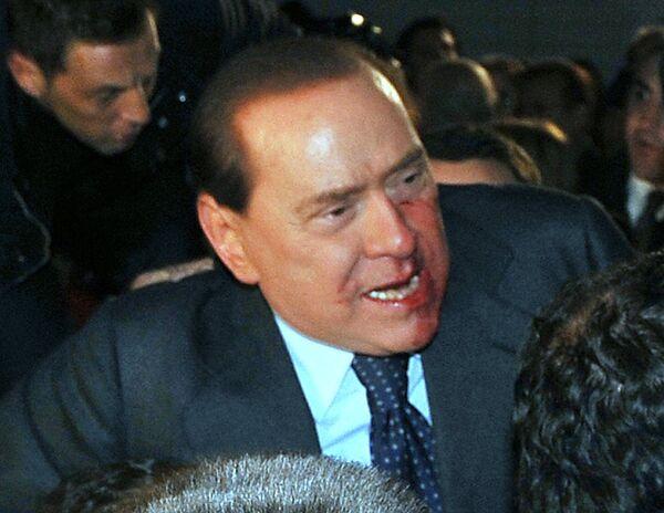 Нападение на Сильвио Берлускони в Милане