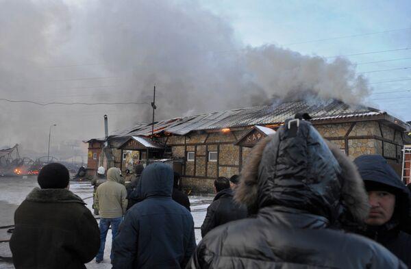 Крупный пожар в Подмосковье локализован