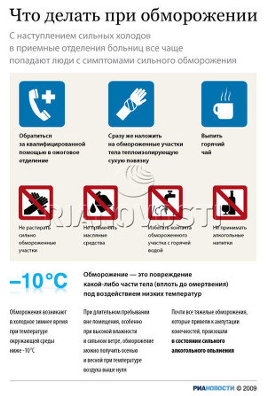 Первая помощь при обморожении - советы от медицинского центра