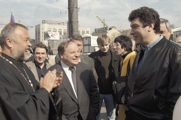Борис Немцов и Егор Гайдар