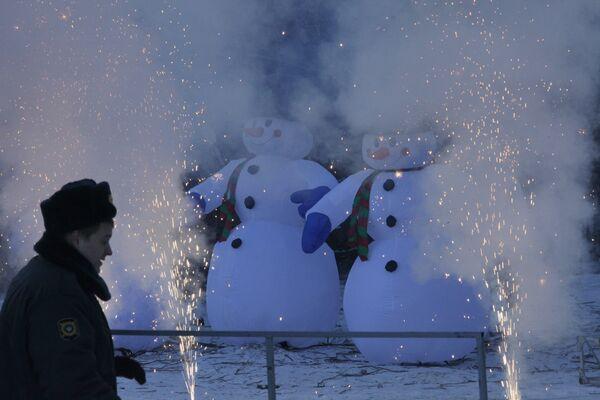 Проводы главной новогодней ели России на территории лесничества в Московской области
