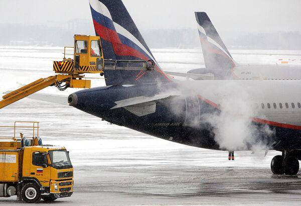 Самолет Аэрофлота вылетел из Женевы в Москву с опозданием на 2,5 часа