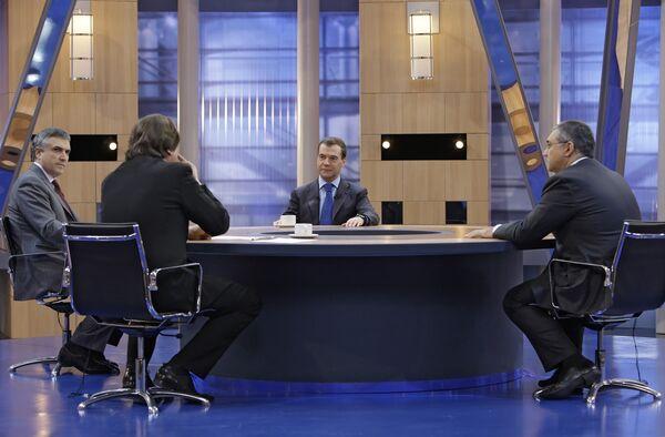 Главные итоги года в интервью Дмитрия Медведева